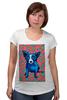"""Футболка для беременных """"Синий Пес"""" - любовь, сердца, собака, синий пес, blue dog"""
