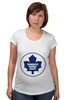 "Футболка для беременных ""Торонто Мэйпл Лифс "" - хоккей, nhl, нхл, toronto maple leafs, торонто мэйпл лифс"