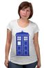 "Футболка для беременных ""Tardis (Тардис)"" - сериал, doctor who, доктор кто, машина времени, телефонная будка, time machine, phone box"