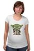 "Футболка для беременных ""Yoda Star Wars"" - star wars, yoda, йода, звёздные войны"