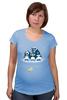 """Футболка для беременных """"Миньоны Пингвины"""" - пингвины, миньоны, гадкий я, банана"""