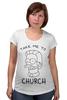 "Футболка для беременных ""Нед Фландерс (Симпсоны)"" - симпсоны, the simpsons, take me to church, возьми меня в церковь"
