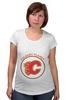 "Футболка для беременных ""Calgary Flames,"" - хоккей, nhl, нхл, калгари флеймз, calgary flames"