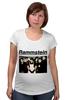 "Футболка для беременных ""Rammstein"" - rammstein, industrial metal, индастриал-метал, метал-группа"