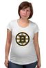 "Футболка для беременных ""Boston Bruins"" - медведь, хоккей, nhl, бостон, boston bruins"