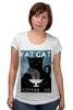"""Футболка для беременных """"Fat Cat"""" - любовь, кот, кошка, кофе"""