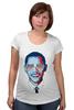 """Футболка для беременных """"Барак Обама"""" - арт, usa, сша, президент, president, barack obama"""