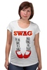 "Футболка для беременных ""Swag Art"" - музыка, swag, обувь, блюз, blues"