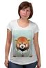 """Футболка для беременных """"Деловая панда"""" - стиль, панда, red panda, деловая, выдра"""