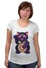 """Футболка для беременных """"Манэки-Нэко (Кот Счастья)"""" - cat, кот счастья, манэки-нэко"""