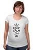 """Футболка для беременных """"Keep calm I am #1"""" - любовь, юмор, корона, принцесса, keep calm"""