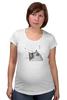 "Футболка для беременных ""Music Cat"" - музыка, кот, ноты, добро, кошаса"