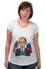 "Футболка для беременных ""Mr President"" - usa, россия, joke, russia, путин, сша, putin, president"