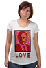"Футболка для беременных ""ValenPutin"" - сердце, путин, розы, президент, putin"