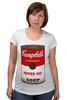 """Футболка для беременных """"Campbell's Soup (Энди Уорхол)"""" - поп арт, энди уорхол, pop art, andy warhol"""