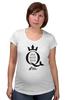 """Футболка для беременных """"Open Water Queen"""" - бег, соревнования, плавание, марафон, триатлон"""