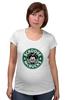 """Футболка для беременных """"Scrooge McBucks (Starbucks)"""" - пародия, coffee, старбакс, макдак, скрудж"""