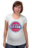 "Футболка для беременных ""Detroit Pistons"" - баскетбол, nba, detroit, нба, detroit pistons, детройт пистонс"
