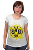 "Футболка для беременных ""боруссия дортмунд"" - логотип, германия, боруссия, дортмунд"