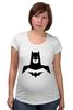 """Футболка для беременных """"Бэтмен (Batman)"""" - comics, batman, dc, superhero, бетмен"""