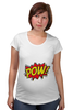 "Футболка для беременных ""Pooow!"" - boom, pop art, pow, blast"
