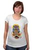 """Футболка для беременных """"Mysterious Owl"""" - кости, сова, owl, мистическая сова"""