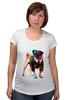 """Футболка для беременных """"Мопс-космос"""" - радуга, dog, pug, космос, собака, цветная, мопс, suit"""