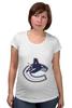 """Футболка для беременных """"Ванкувер Кэнакс """" - 3d, хоккей, nhl, нхл, ванкувер кэнакс"""