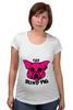 """Футболка для беременных """"The Blind Pig #2"""" - прикол, супер, рисунок, pink, новое, свинья, blind, слепой, pig"""