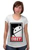 """Футболка для беременных """"Android (Obey)"""" - android, робот, obey, андроид, повинуйся"""
