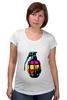 """Футболка для беременных """"Color Grenade """" - рисунок, grenade, граната, colorful, лимонка"""