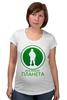 """Футболка для беременных """"Вежливая планета"""" - армия, россия, вежливые люди, ратник, вооружённые силы"""