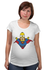 "Футболка для беременных ""Гомер Супермен"" - superman, симпсоны, the simpsons, gomer simpson, гомер супермен"