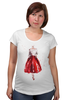 "Футболка для беременных ""Red skirt, red lips"" - красный, мода, fashion, красная юбка"