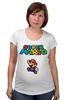 """Футболка для беременных """"Super Mario"""" - денди, dendy, марио, mario bros, 8bit"""