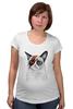 """Футболка для беременных """"Grumpy Cat x Bowie"""" - grumpy cat, дэвид боуи, david bowie, сердитый котик"""