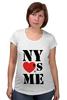 """Футболка для беременных """"NY"""" - i love, ny, nyc"""