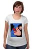 """Футболка для беременных """"Pop art"""" - кошка, поп арт, женщина, cherry, женщина кошка"""