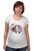 """Футболка для беременных """"Хранитель природы"""" - арт, лошадь, рисунок, свобода, оберег, этническое, индейские мотивы, анималистическое, славянское, кельтский крест"""