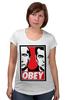 """Футболка для беременных """"OBEY"""" - путин, медведев, obey, putin, medvedev"""