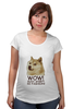 "Футболка для беременных ""doge wow such shirt so fashion"" - мем, пёс, wow, doge, собакен"