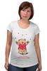 """Футболка для беременных """"Happy Valentnine's Day"""" - медведь, день святого валентина, мишка, обними меня, hug me"""