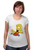 "Футболка для беременных ""The Simpsons"" - симпсоны, the simpsons, барт, барт симпсон"