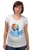 """Футболка для беременных """"RainbowDash T-Shirt"""" - круто, rainbow dash, my little pony, пони, rainbow, стильно, рейнбоу дэш, молодёжно"""
