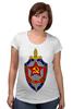 """Футболка для беременных """"КГБ """" - звезда, ссср, кгб, эмблемма, щит и меч"""