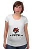 """Футболка для беременных """"Cincinnati Bengals"""" - тигр, nfl, американский футбол, cincinnati, цинциннати бенгалс"""