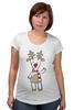 """Футболка для беременных """"Новогодняя фуфайка"""" - красивая, new year, white and snow-white, сказочная, christmas, reindeer"""