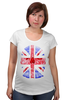 "Футболка для беременных ""Skull Art"" - skull, череп, uk, british flag, британский флаг"