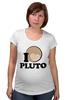 "Футболка для беременных ""Плутон (Pluto)"" - pluto, плутон, space, космос"