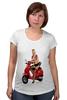 """Футболка для беременных """"Девушка на мотоцикле"""" - девушка, эротика, блондинка, мотоцикл"""